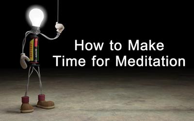 Crear tiempo para meditar