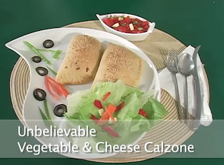 Unbelievable Vegetable and Cheese Calzone