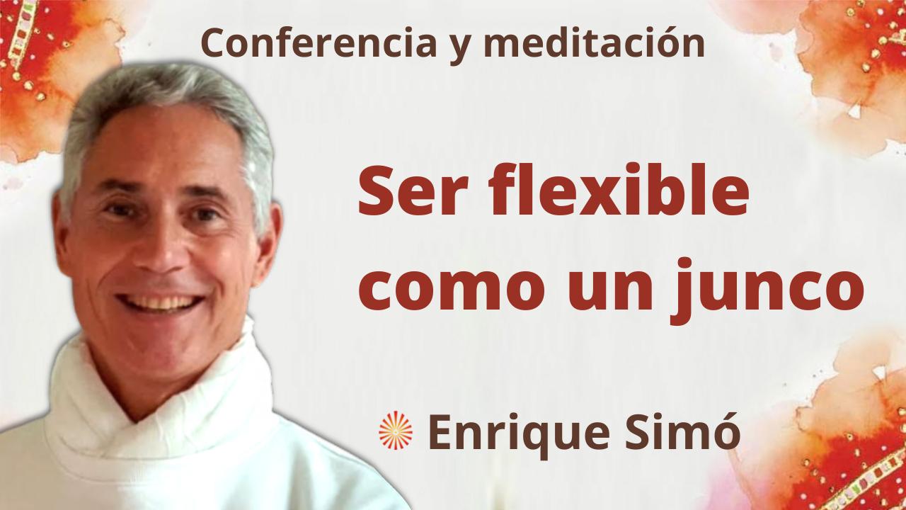 1 Octubre 2021 Meditación y conferencia:  Ser flexible como un junco