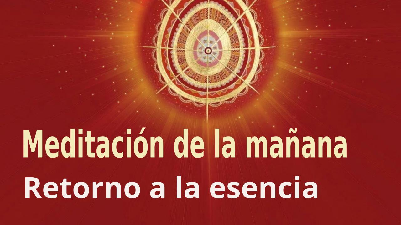 Meditación de la mañana Raja Yoga: Retorno a la esencia (3 Agosto 2021)