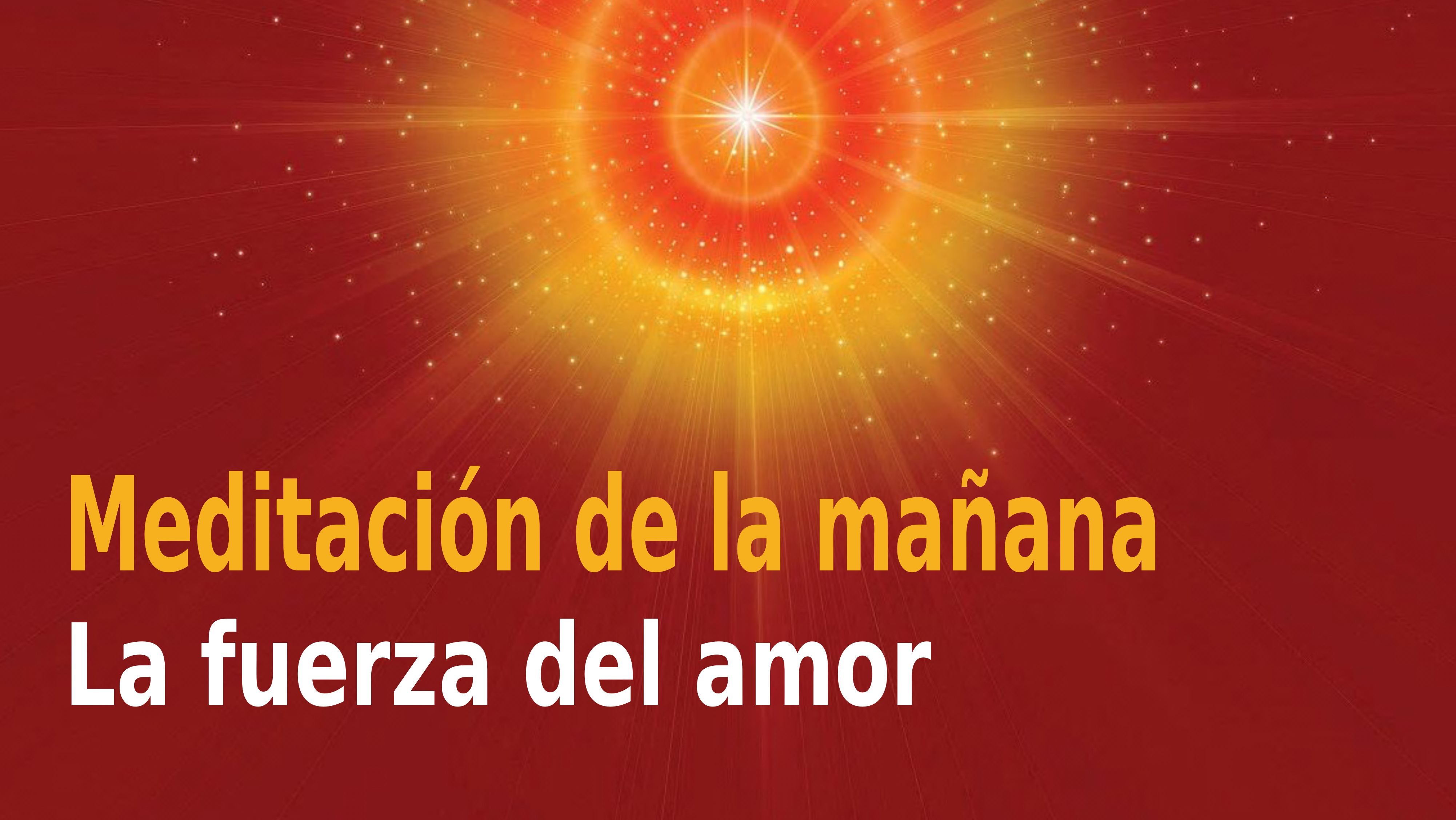 Meditación de la mañana Raja Yoga: La fuerza del amor (30 Octubre 2020)