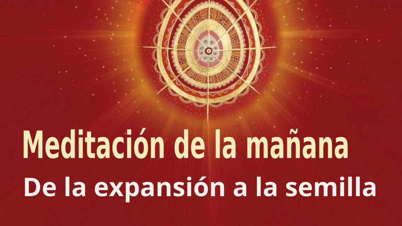 Meditación de la mañana: De la expansión a la semilla, con Guillermo Simó. (7 Septiembre 2021)