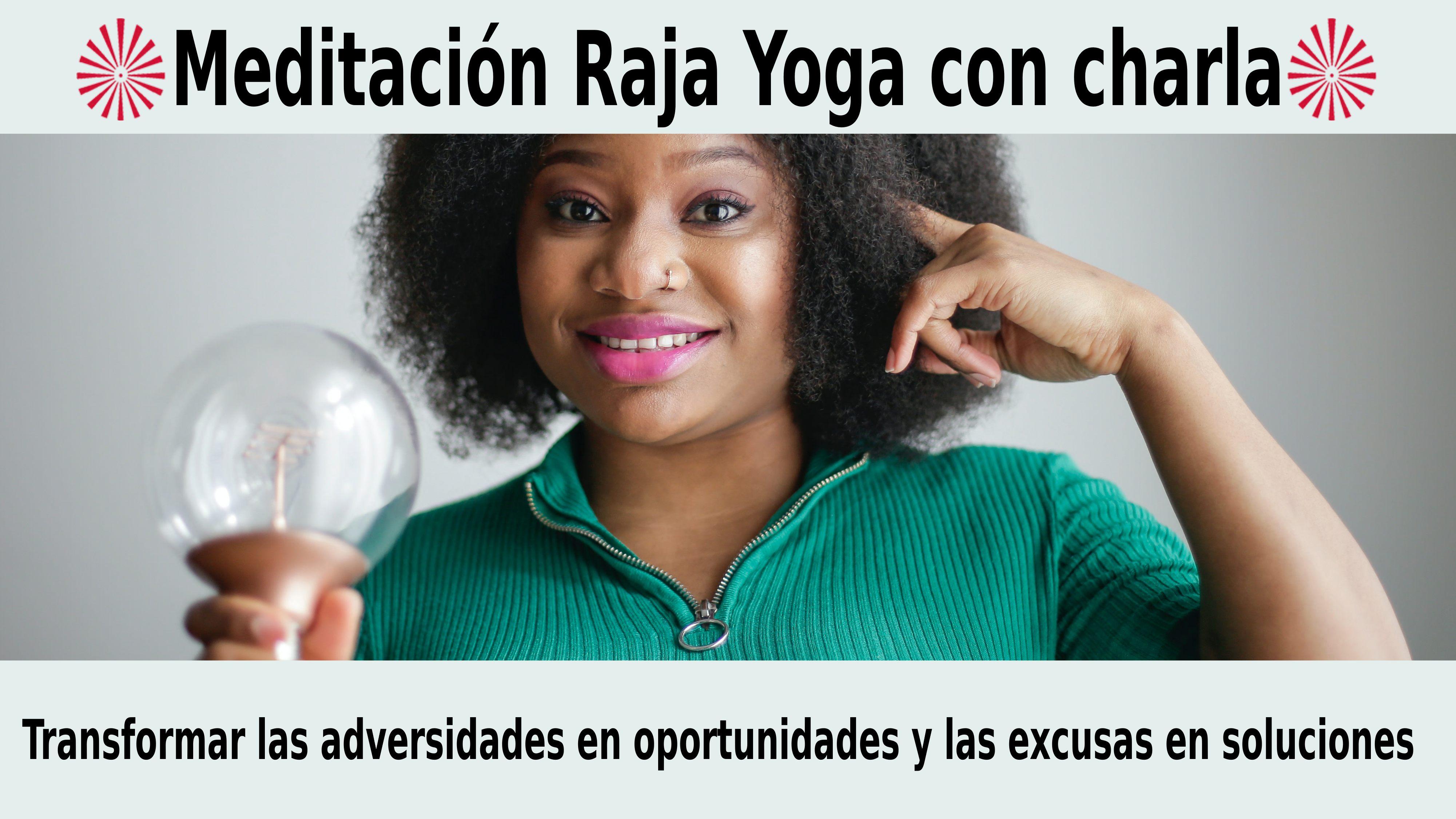 Meditación Raja Yoga con charla: Transformar las adversidades en oportunidades (23 Noviembre 2020) On-line desde Mallorca