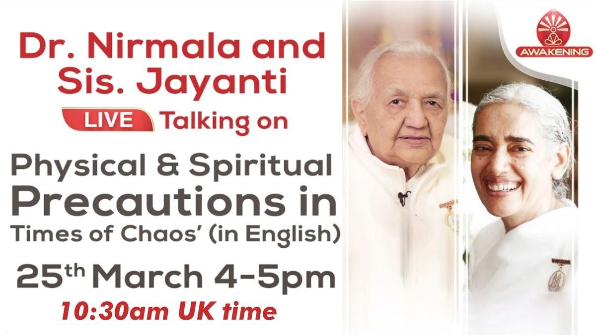 Precauciones físicas y espirituales (25 Marzo 2020) On-line desde India